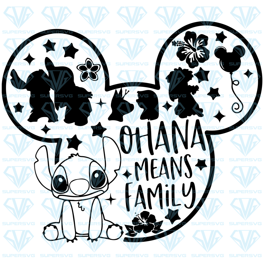 Download Ohana Means Family SVG Files For Silhouette, Files For ...