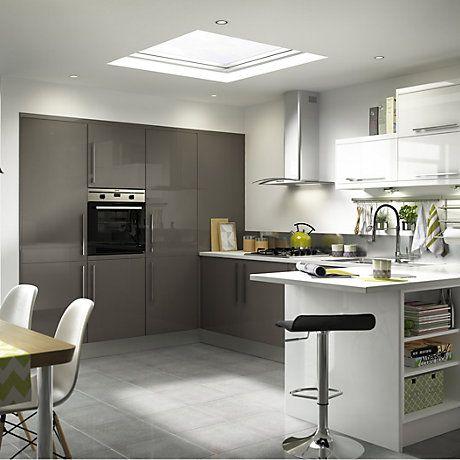 B&q Santini Gloss Anthracite Slab It Kitchen  Kitchen  Pinterest Mesmerizing Bandq Kitchen Design Design Inspiration