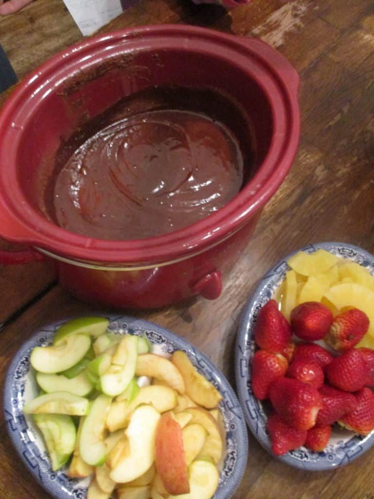 Easy Crockpot Chocolate Fondue | Orison Orchards