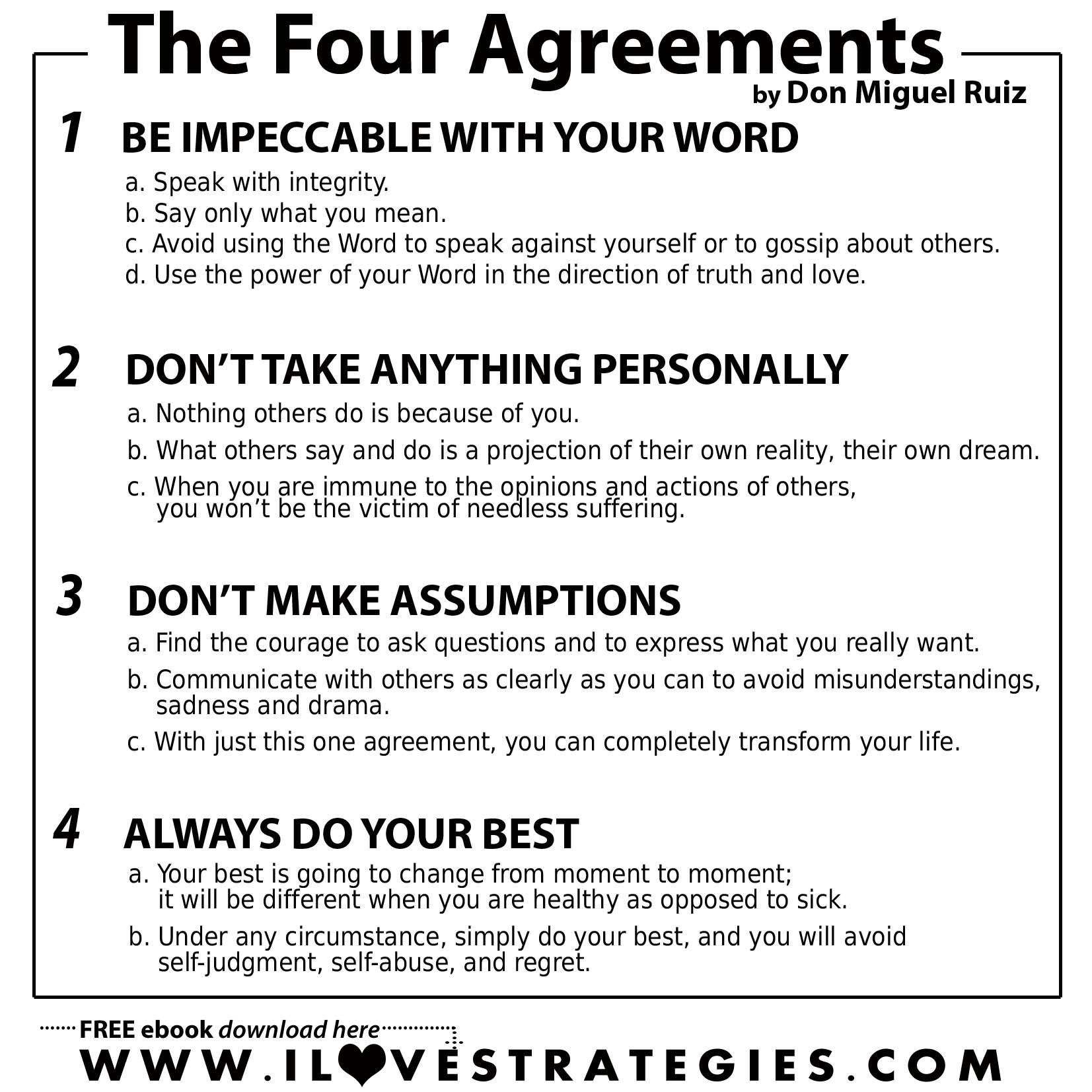The Four Agreements Quotes Cool The Four Agreements Is A Book I Would Recommend With Anyone . Design Inspiration