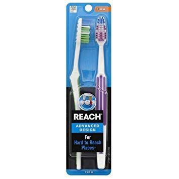 REACH Advanced Design Toothbrushes Soft Full Head Value ...