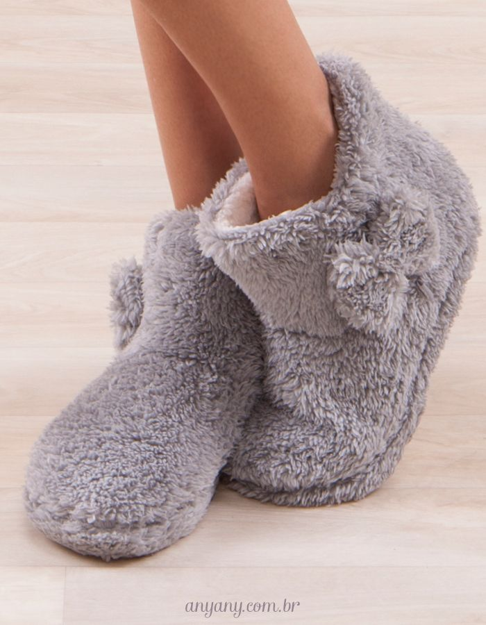 843b9fe2e3f46b Pantufas fofolets para deixar o Inverno mais gostoso! | Sew It! em ...