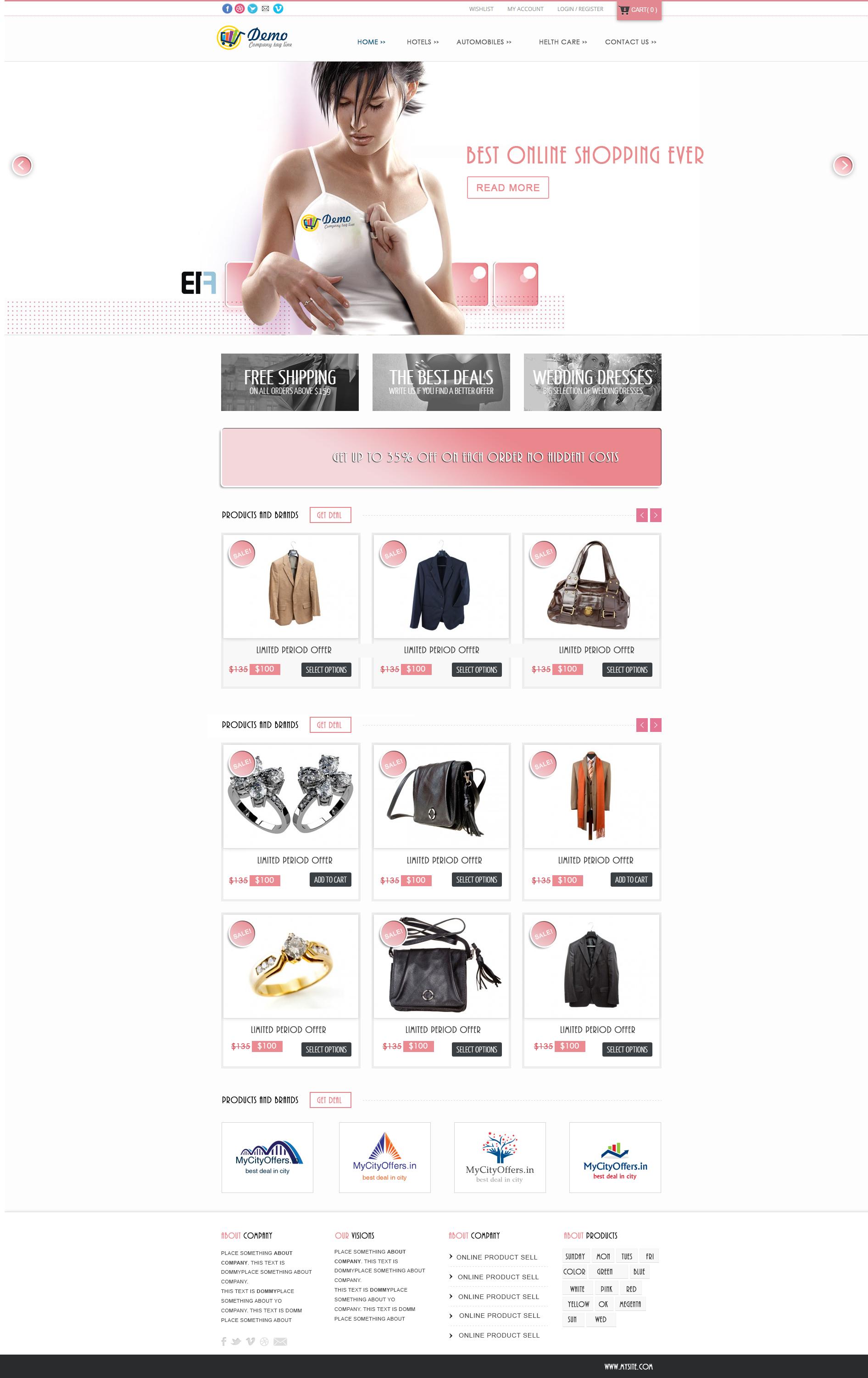 online shopping website Responsive Website Templates