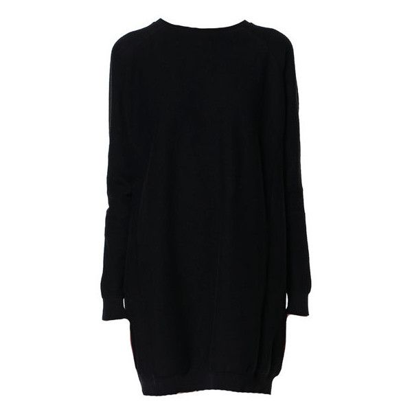 Zara Knitted Dress With Seams (€23) found on Polyvore
