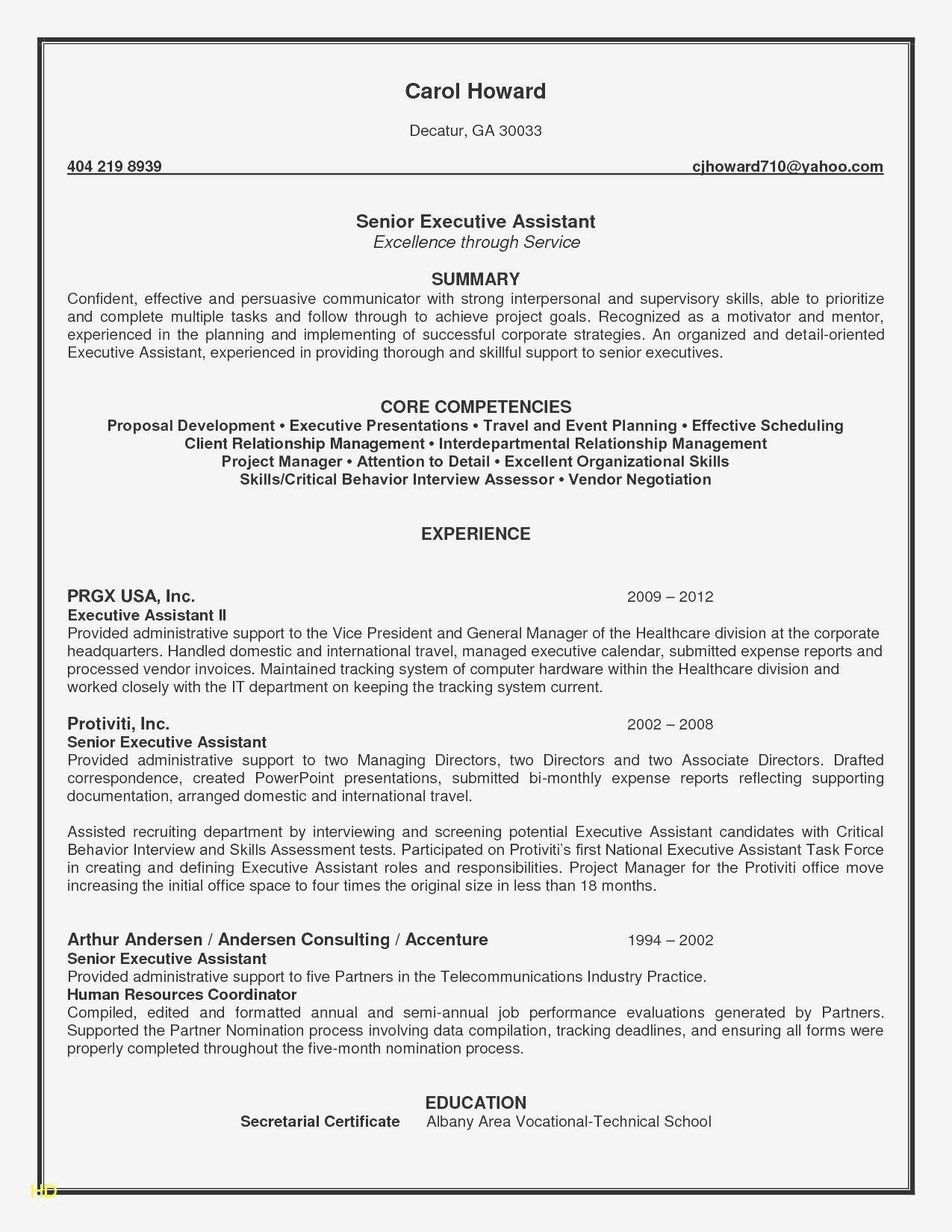 Resume Summary for Administrative assistant Best Of
