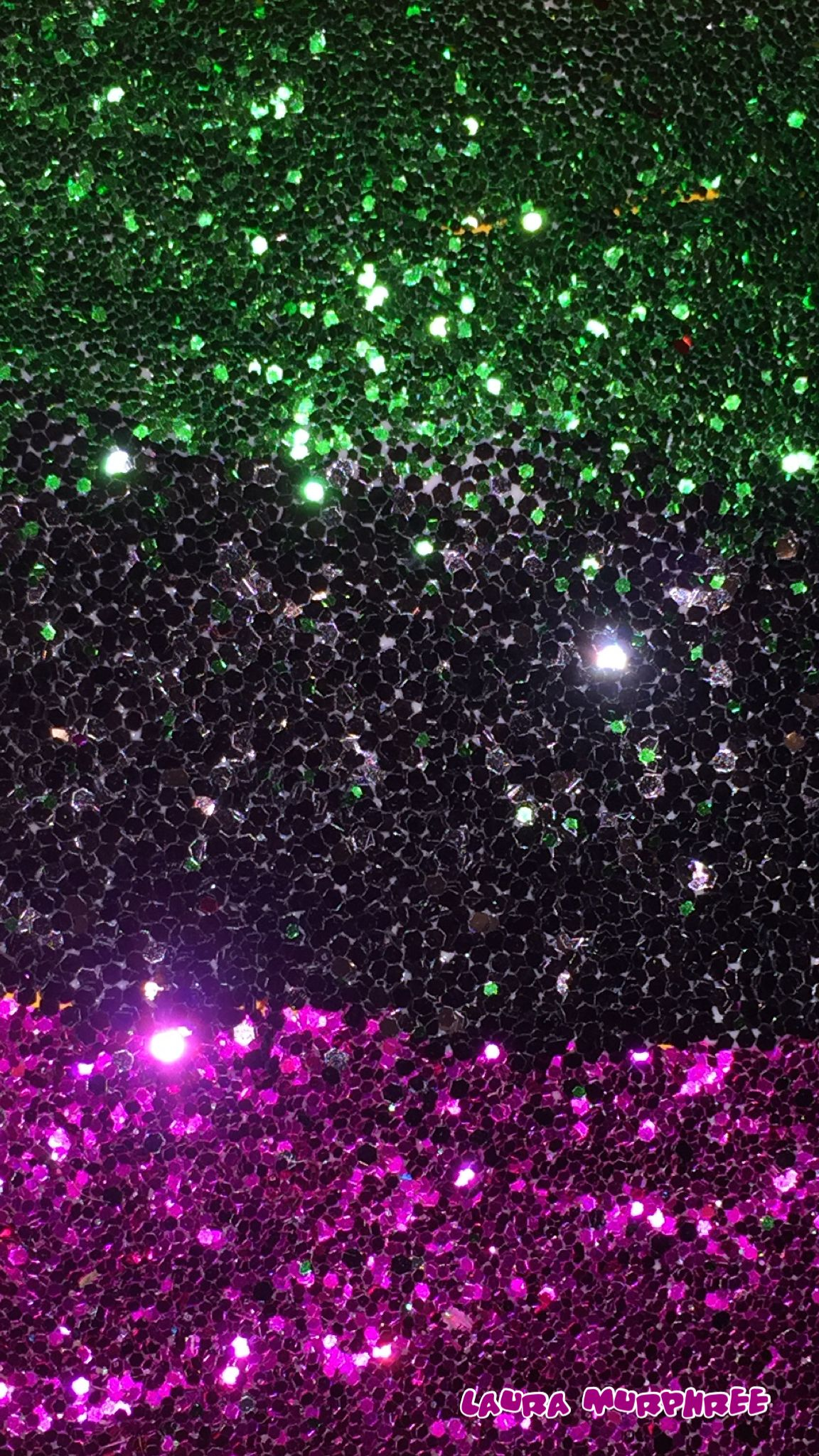 Colorful glitter phone wallpaper sparkle background pink black green