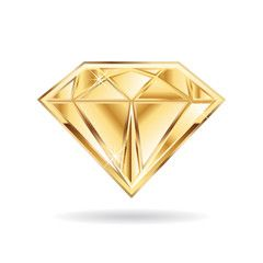 Gold Wedding Diamond Logo Vector Graphic Design Jewelry Logo Design Diamond Logo Diamond Picture