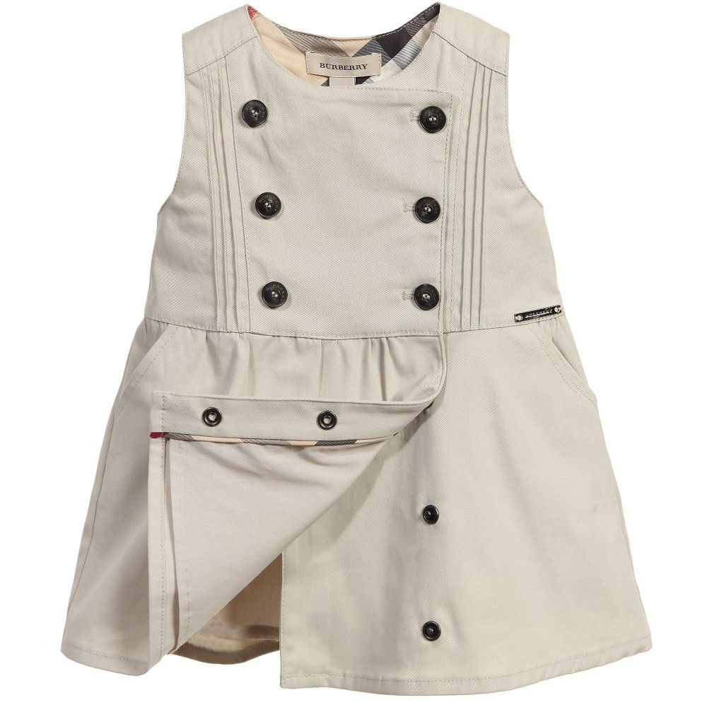 Burberry - Beige Cotton Trench Dress