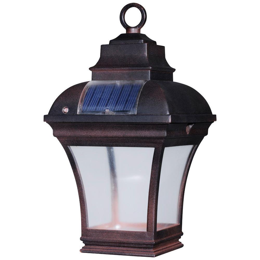 Newport Coastal Altina Outdoor Solar Led Hanging Lantern 7786 04bz 1 The Home Depot Outdoor Solar Lights Solar Hanging Lanterns Solar Patio Lights