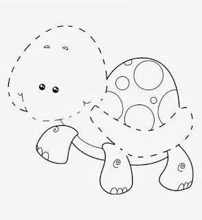 17 Moldes De Animalitos Para Hacer Figuras En Foami Y Fieltro Haz Manualidades Molde De Animales Tortuga Para Colorear Animales De Fieltro