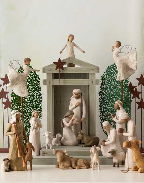 Willow Tree Nativity Set Multiple Pieces Sets That Go Into This Entire Nativity Scene Event Willow Tree Nativity Set Willow Tree Angels Willow Tree Nativity