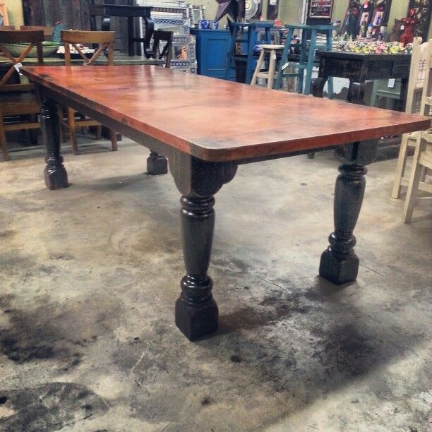 Pin By Barrio Antiguo Designs On Copper Table Dining Table