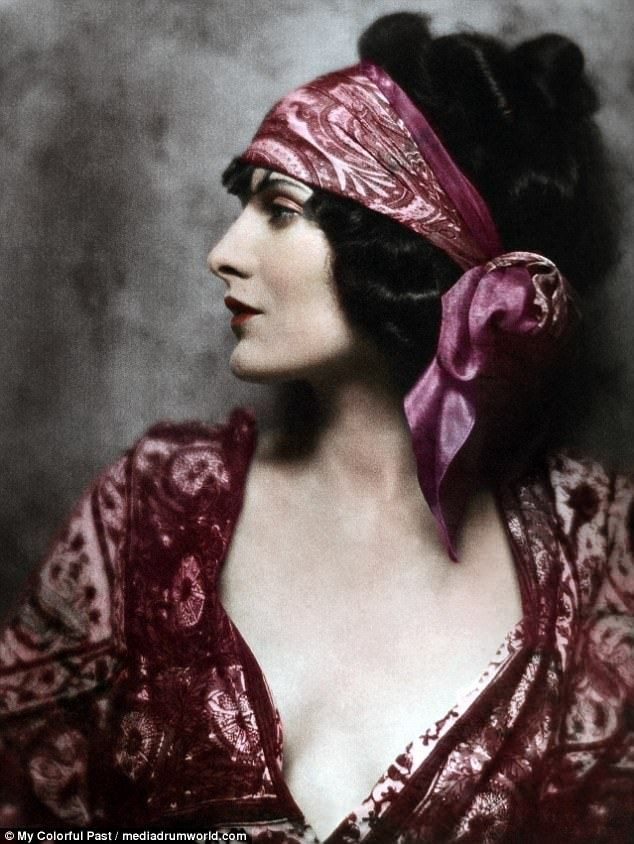 Early fashion photographs have been transformed with colour