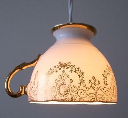 DIY - Luminária de xícara