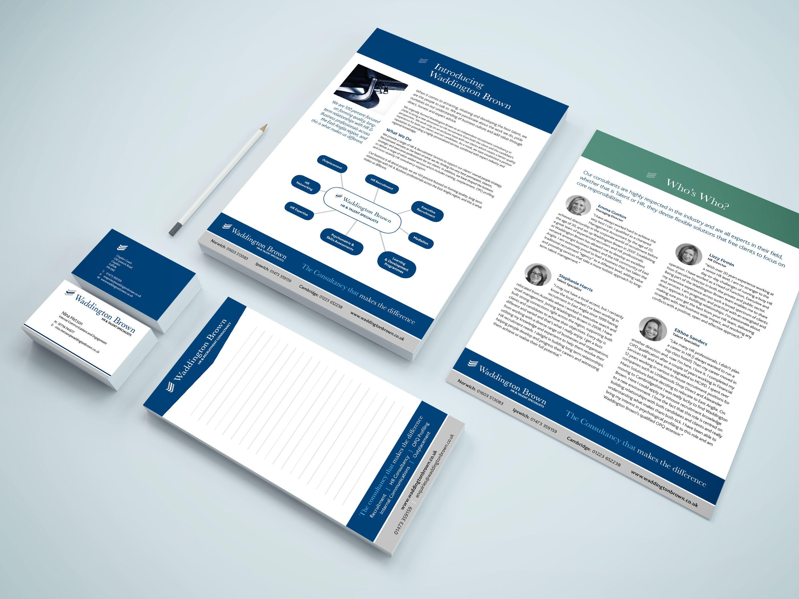 Waddington Brown Stationery Printing Business Cards Digital Printing Services Digital Prints