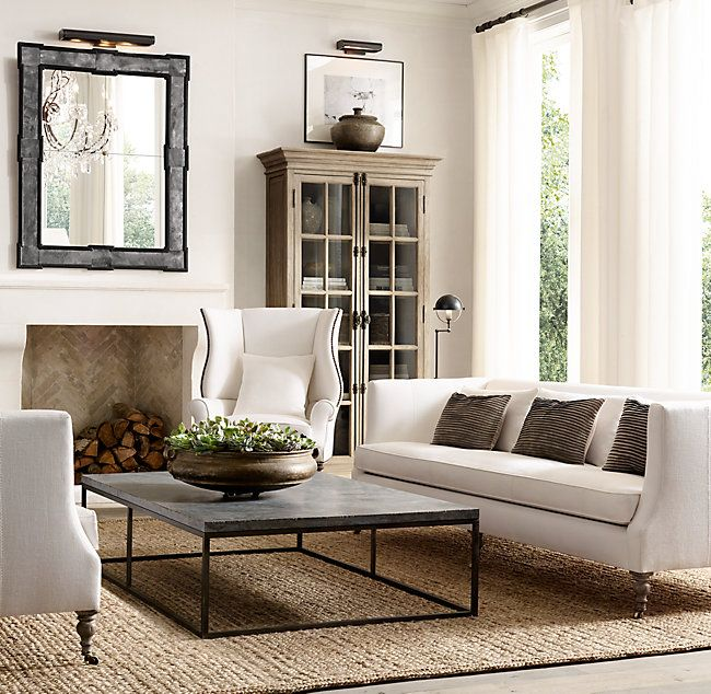 George Shelter Arm Upholstered Sofa:Modeled After The Elegant Designs Of  Late Victorian England, Our High Back Shelter Sofa Proffers Privacy And  Pared Down ...