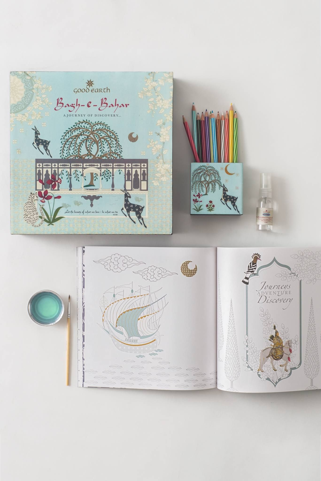 Gift A Loved One Our Bagh E Bahar Luxury Gift Set And Wish Them Well As They Embark On A Therapeutic Jour Coloring Books Gardens Coloring Book Luxury Gift Set