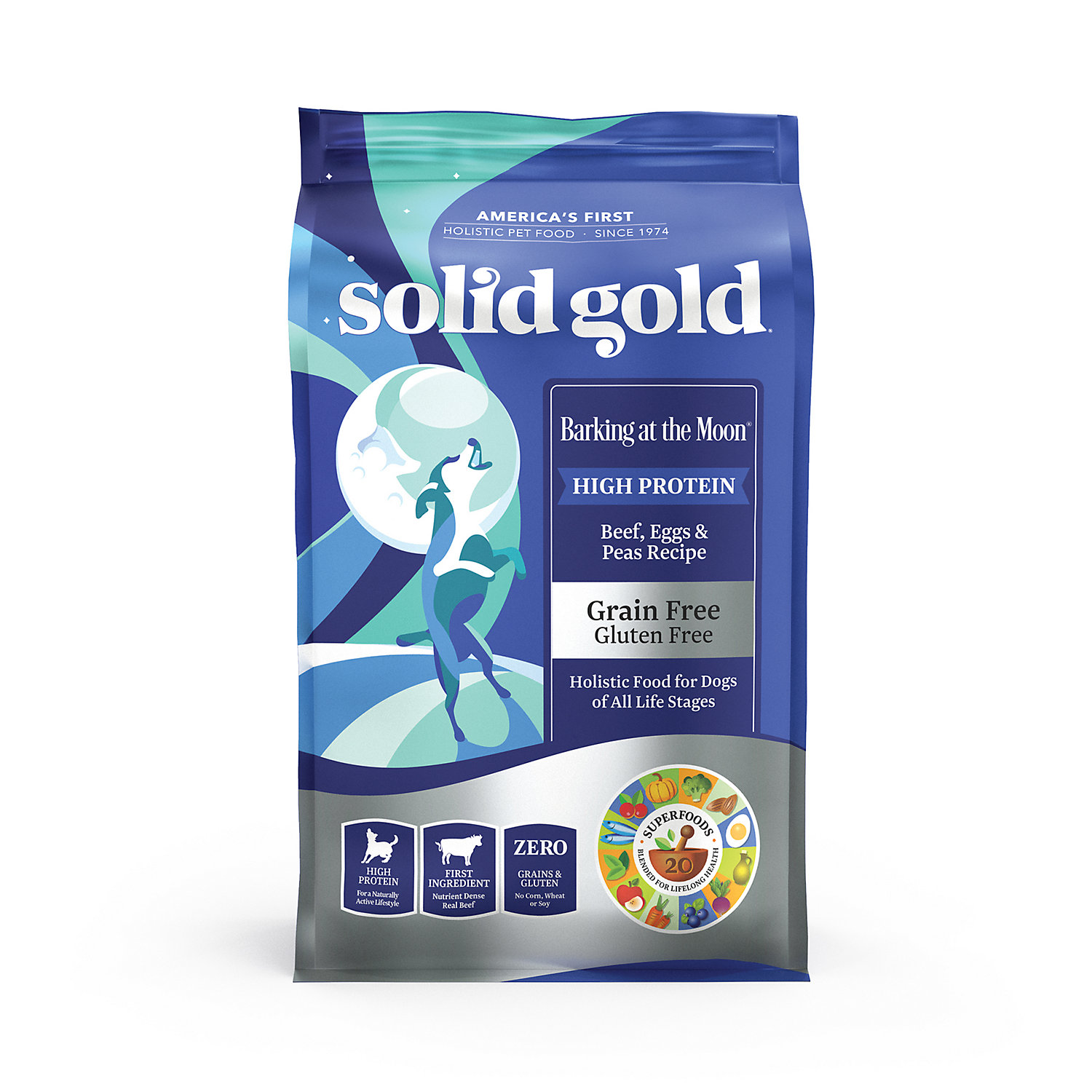 Solid Gold Barking At The Moon Beef Eggs Peas Grain Free Adult