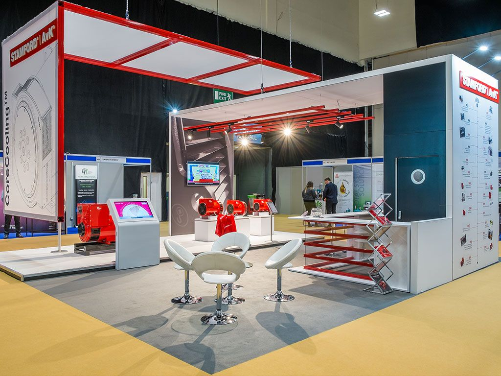 Marketing Exhibition Stands : A large open plan exhibition stand for cummins exhibition
