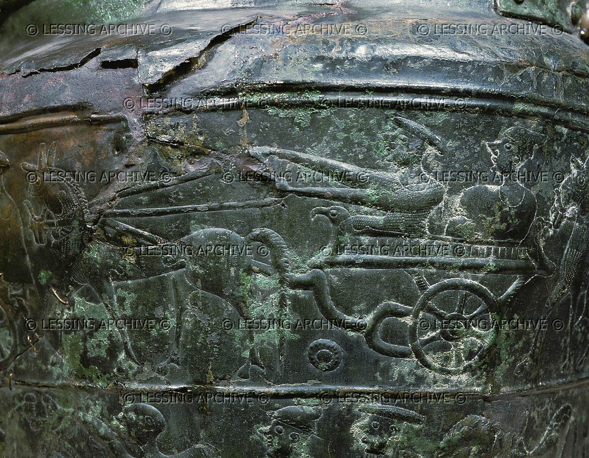 Lessingimages.com - Presentation of chariot and horses.   Celtic art,  Celtic clothing, Art