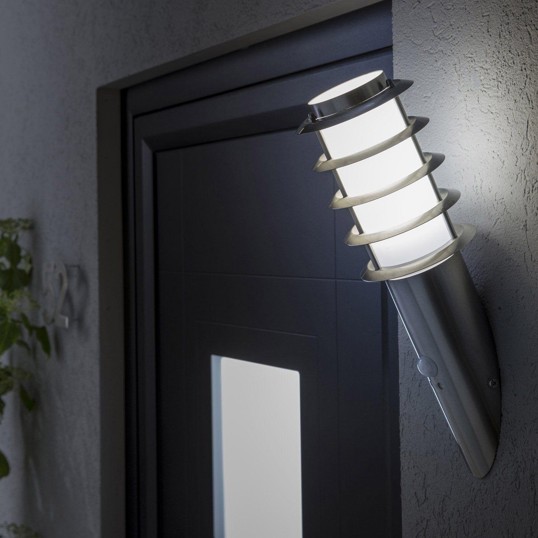 Applique A Detection Exterieure Miami E27 40 W Inox Inspire En 2020 Inox Eclairage Exterieur Luminaire Exterieur