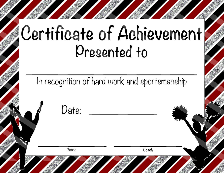 Cheerleading certificate cheerleading by nanaspartyprintables cheerleading certificate cheerleading award cheerleading diy cheerleading printable cheerleading achievement end of season award yelopaper Images