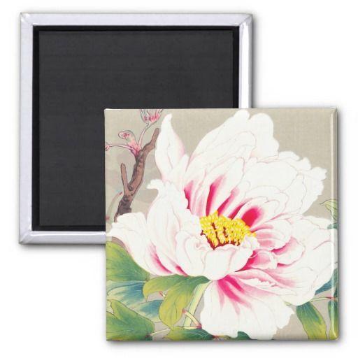 Zuigetsu Ikeda Pink Camellia japanese flower art Magnet | Zazzle.com#art #camellia #flower #ikeda #japanese #magnet #pink #zazzlecom #zuigetsu