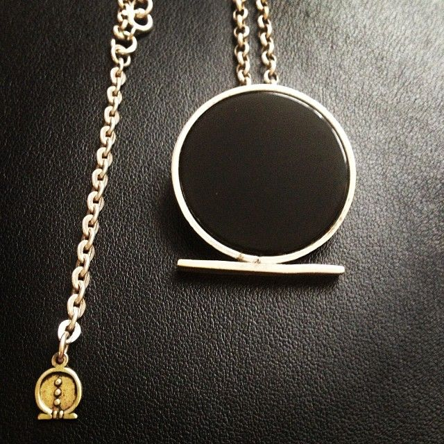 The El Hieroglyph Onyx Shen Necklace Is In The Shape Of The Ancient