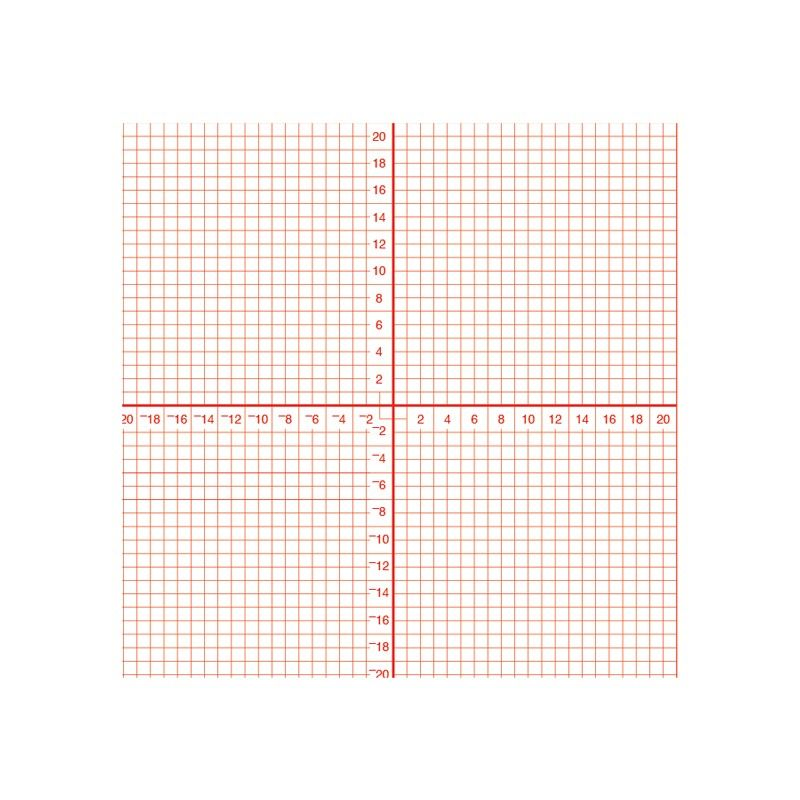 Graph Paper Pad Features Squares And Numbered Axis. Perfect For One Problem  Quizzes, In Class Work Or Homework.