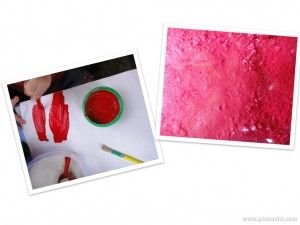 Painting Planet Mars With Red Tempera and Sugar Energy