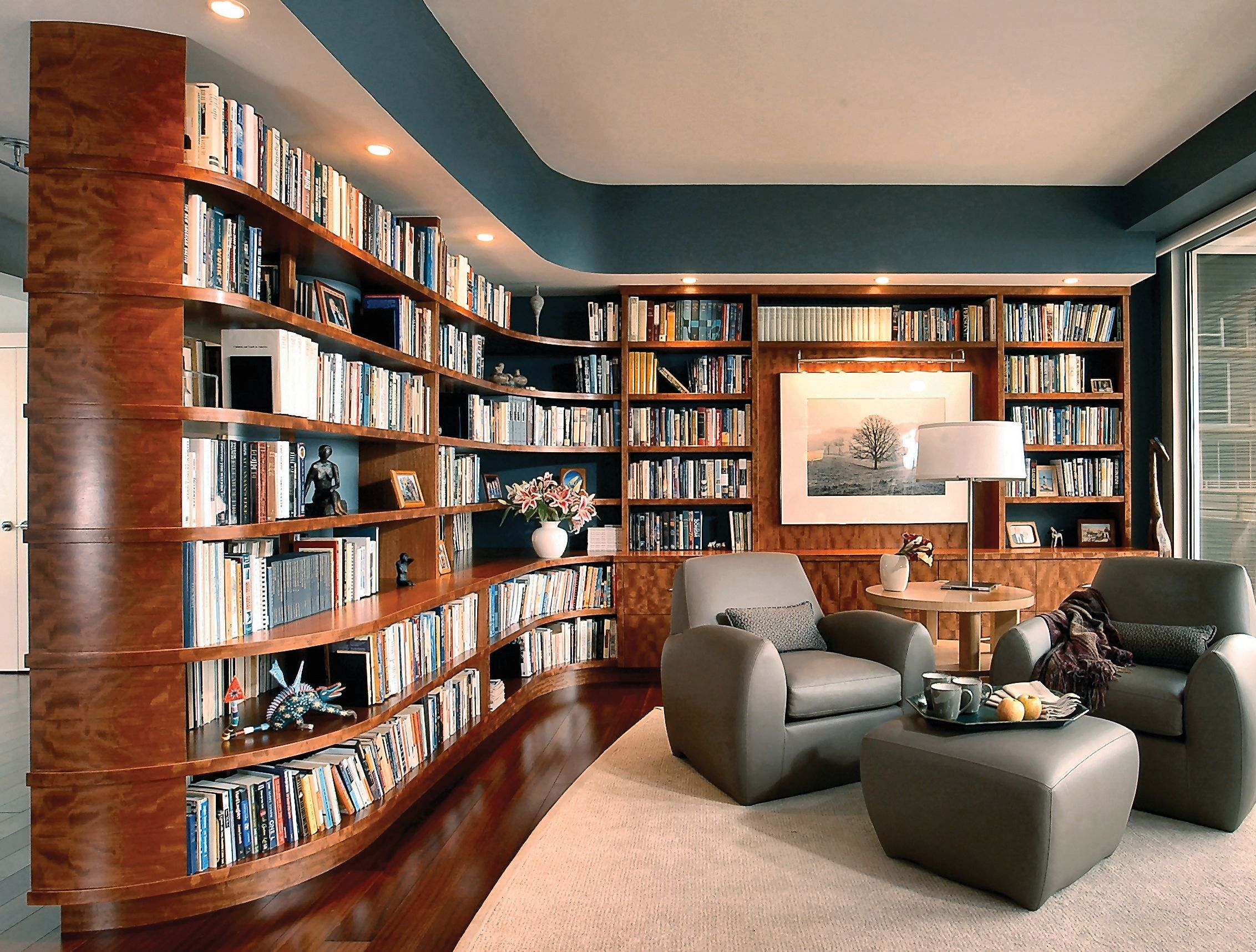 Evanston Home Remodel Home Library Design Home Library Decor