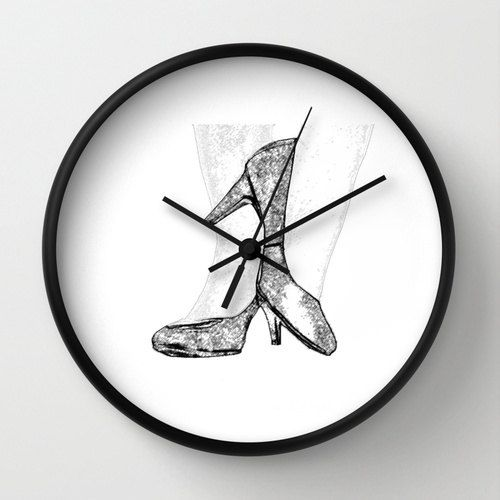 #Modern Wall #Clock High Heel #Shoes #Girl @De.co.ra.ção by #PhotographybyLadybug, $50.00 #Etsy