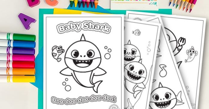 Here's how to download adorable Baby Shark coloring pages ...