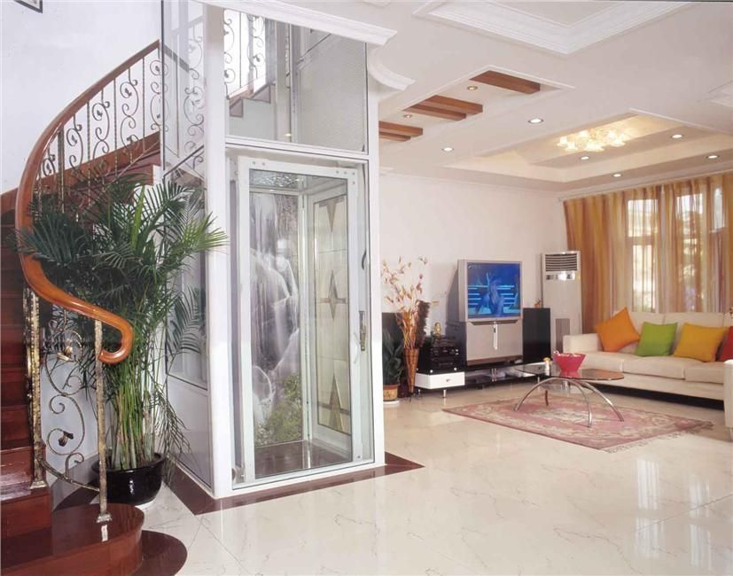 Glass elevator glass home elevator glass for Elevator house