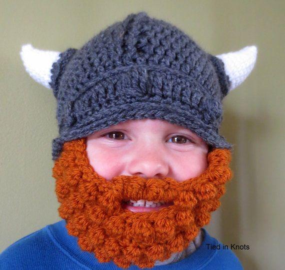 Baby-Viking-Hut mit Bart Baby Baby Wikinger von TiedinKnotsCrochet ...
