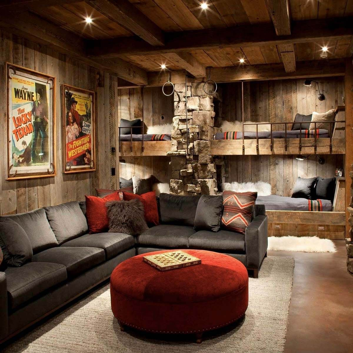 Finishing A Basement Is A Perfect Diy Project For A Fraction Of The Cost Of An Addition You Can Convert Ba Rustic Living Room Man Cave Home Bar Bars For Home