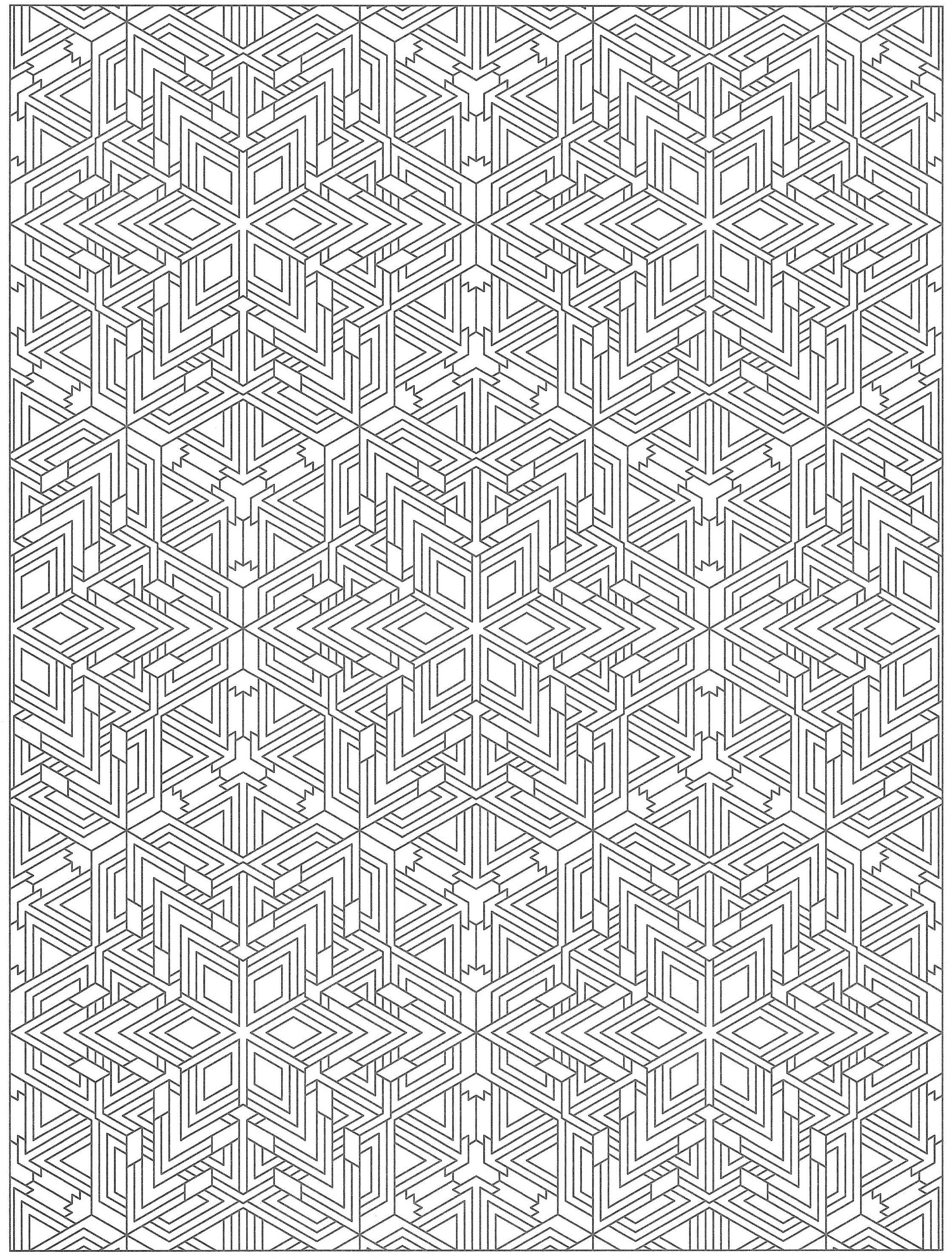 Creative Haven Tessellations Coloring Page Zentangle Patterns And