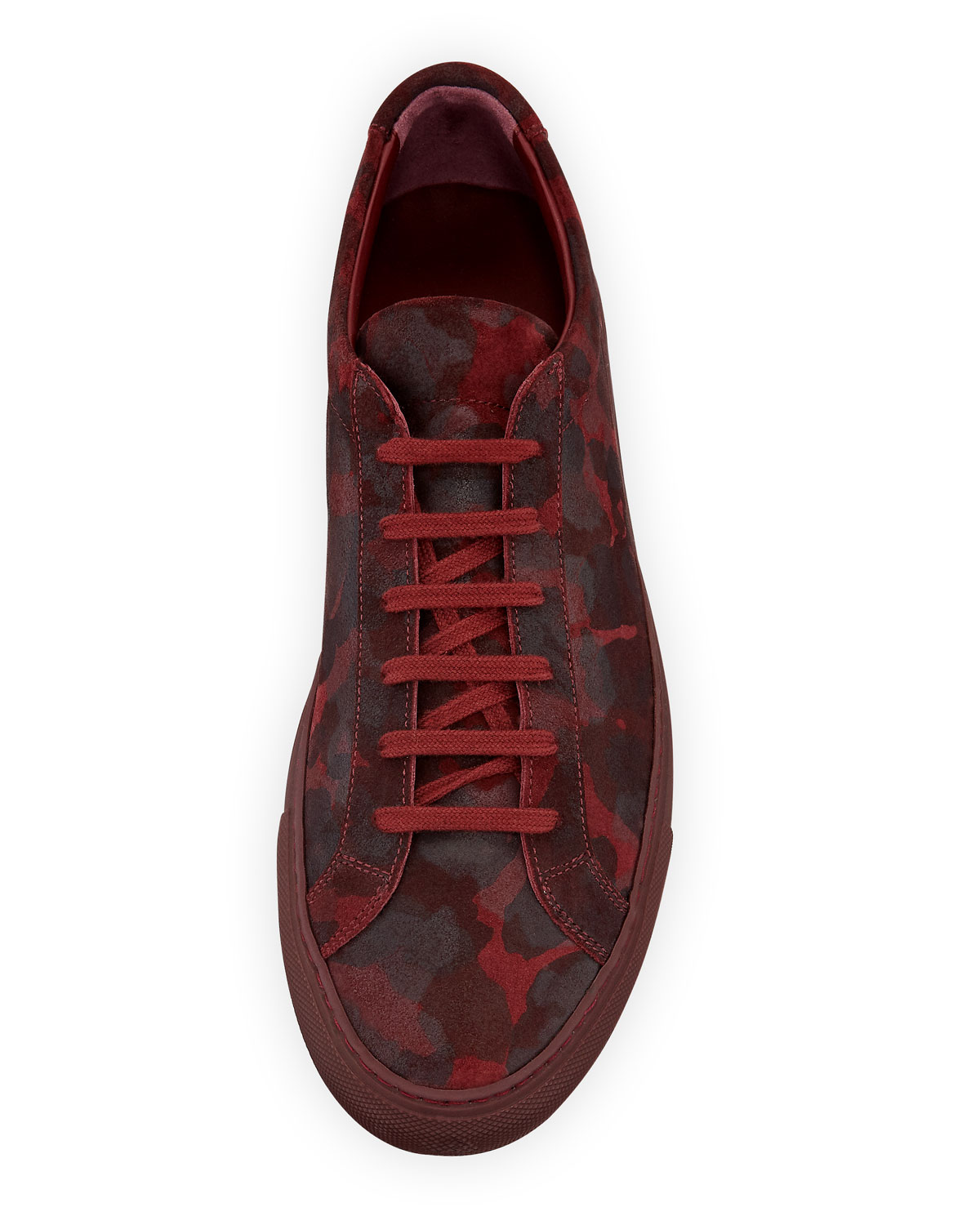 0898cd4d007ff Men's Achilles Camo Suede Low-Top Sneakers Red | Products | Sneakers ...