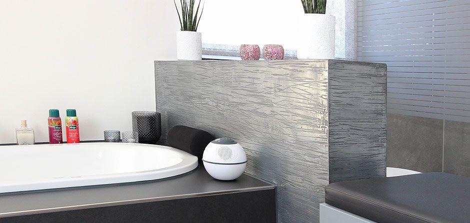 Modernes Badezimmer ohne Fliesen mit Raumteiler mit hochwertiger - badezimmer ohne fliesen