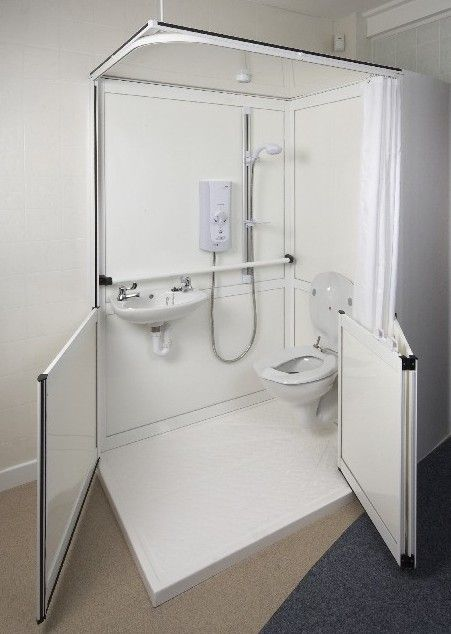 Care Home Shower With Images Small Shower Room House Bathroom