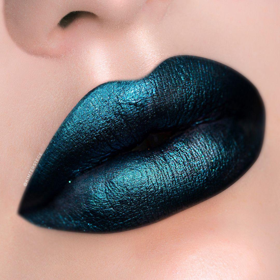 Gorgeous lip makeup ideas - The Real Teal and I Wanna Rock With You Matte-tallic Lipsticks matte lipstick ,lip gloss ,full lip makeup , lipstick ,matte lip makeup ,nude lip