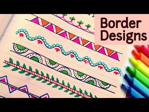 How to decorate borders of project files attractive for part frames outlines youtube video border design also rh pinterest