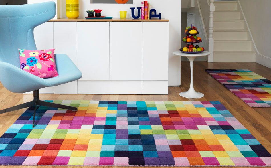18 Rooms With Colorful Rugs Geometric Decor Pattern Geometric Decor Colorful Rugs