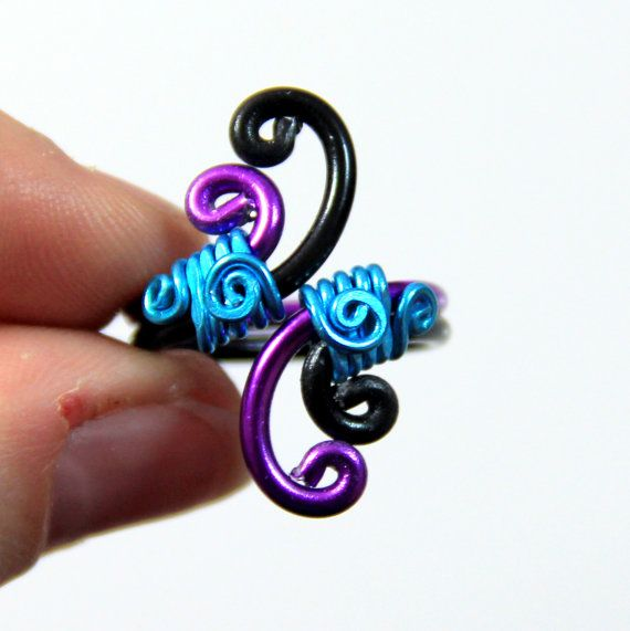 This ring is made out of 12 gauge anodized aluminum and 18 gauge ...