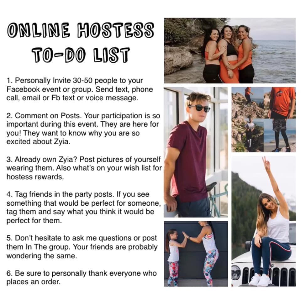 How To Host An Online Zyia Party Hostess Successful Party Hostess Rewards