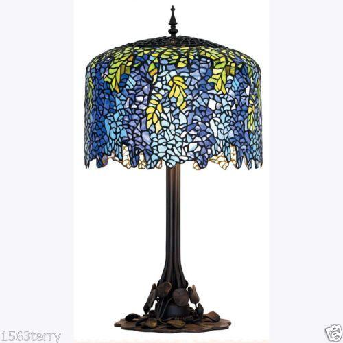 Wisteria Replica Tiffany Style Table Lamp Lead Light Will Ship Australia Wide in Kew East, VIC | eBay