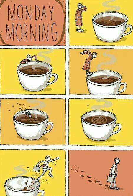 Monday.... Every Day! Coffee is Go Go Go juice