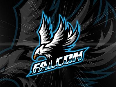 Mean Green Falcon Logo Photo Logo Design Game Logo