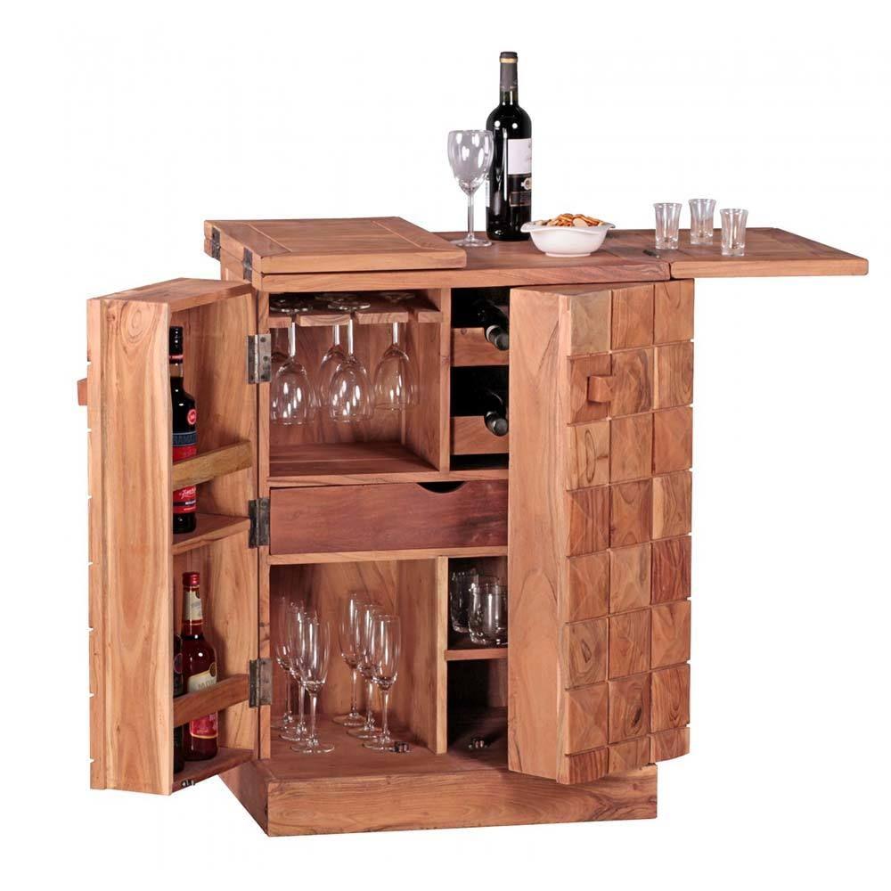 Hausbar aus Akazie Massivholz Landhaus rustikal Jetzt bestellen ...