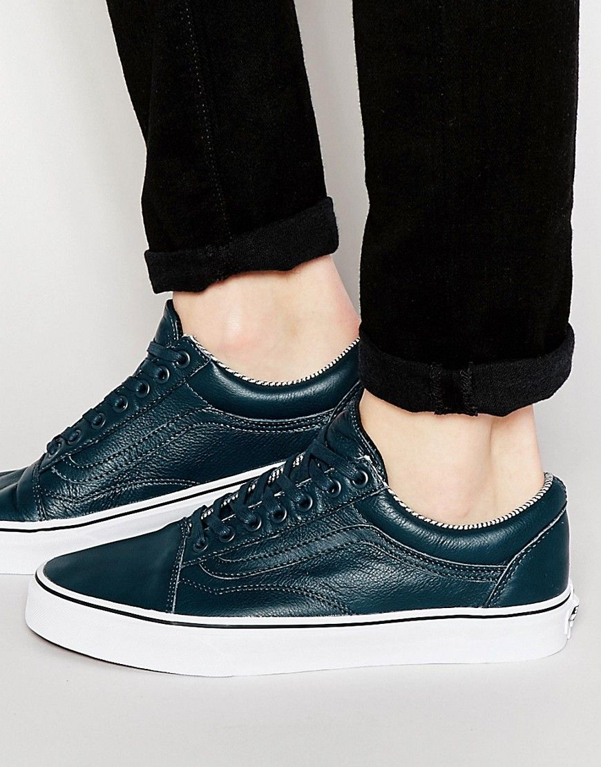 Vans Old Skool Palm Sneakers In Blue V3Z6IED